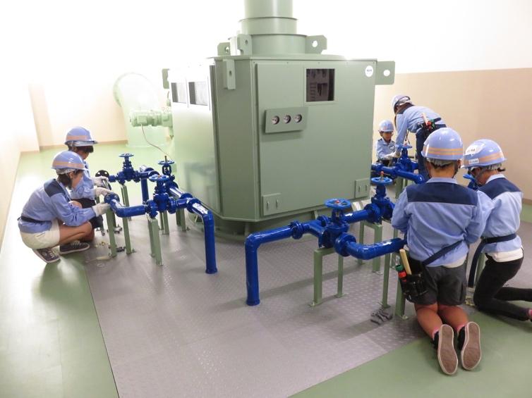 下水処理場(水再生センター)のお仕事も体験できる